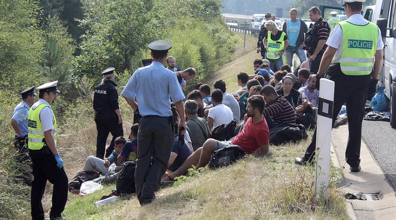 ilegální migranti chycení na D5, krimi-plzen.cz