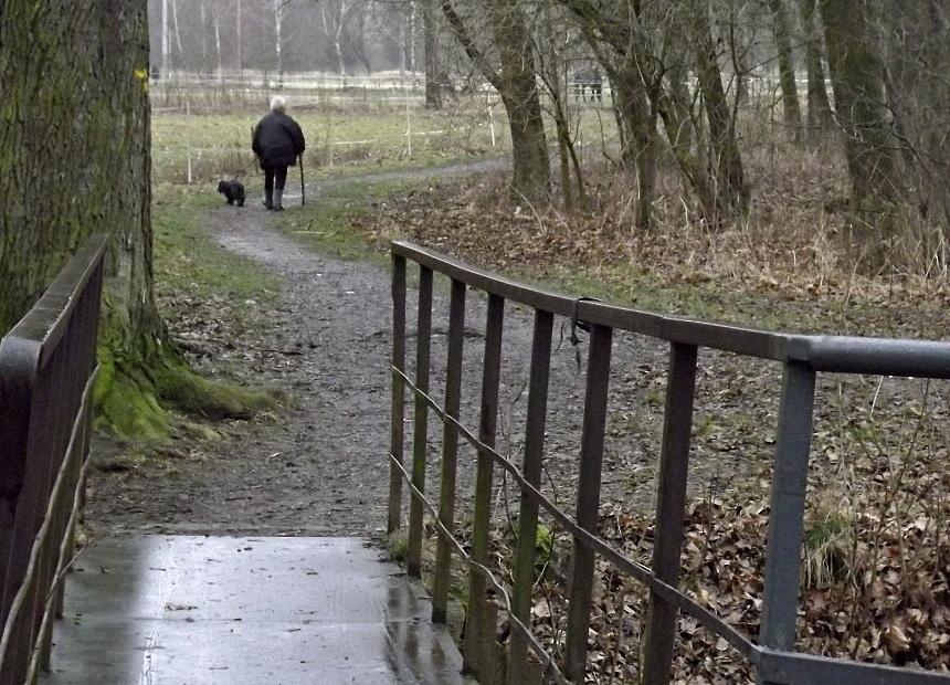 senioři na procházce, pnd