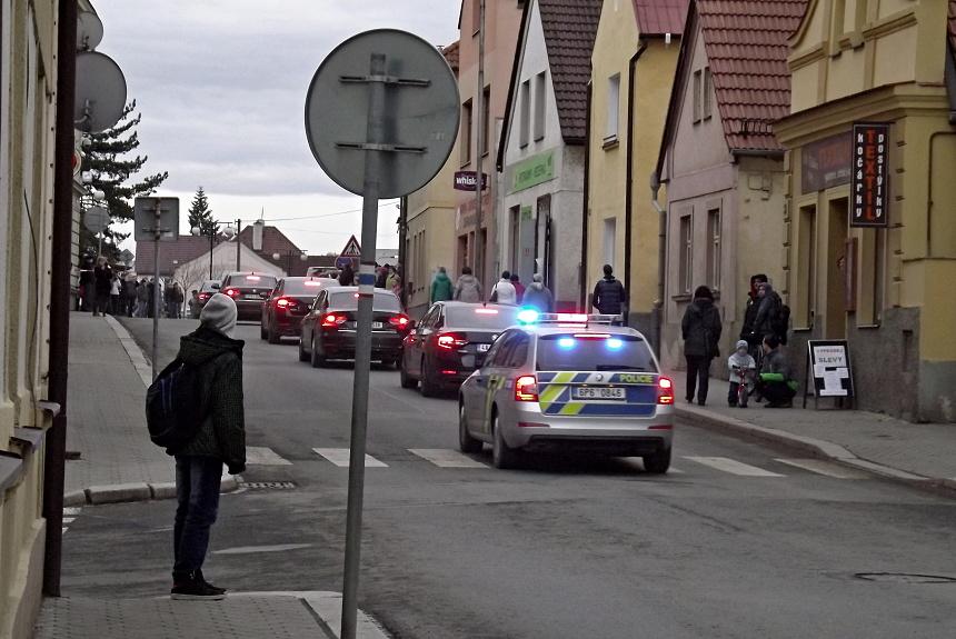 příjezd prezidentské kolony do Blovic, PnD