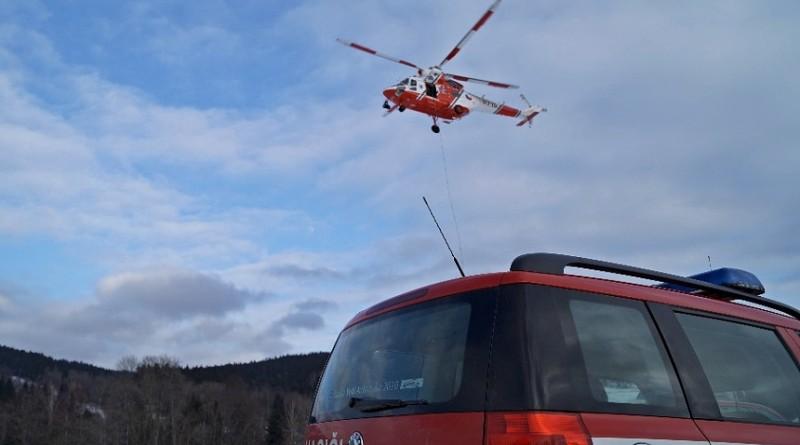 cvičení leteckých záchranářů v žel.rudě, zuzana špačková