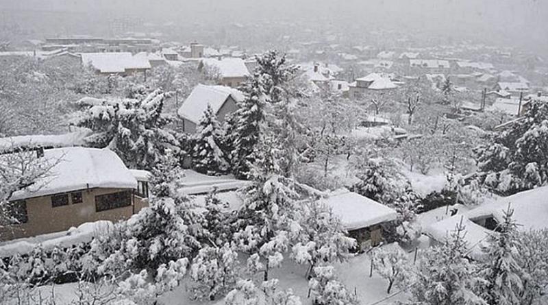 husté sněžení, zdroj - shmu.cz