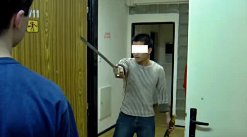 útočník na ubytovně VŠB v Praze, zdroj - youtube