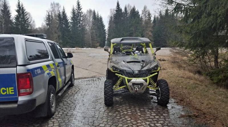 čtyřkolky v chko brdy, zdroj - policie,cz