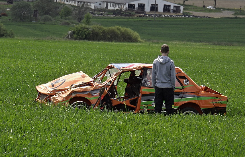 karamboly na podbrdské rallye legend 2016, PnD