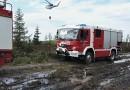 V Brdech cvičili hasiči likvidaci požáru vřesoviště. Na místě byl také hasičský tank!