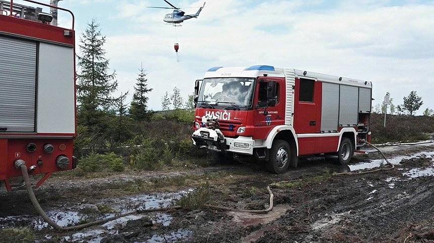 cvičení hasičů brdy, josef sykora