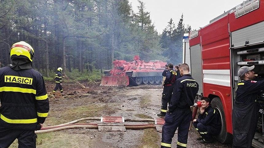 cvičení hasičů jordán brdy, josef sykora II.