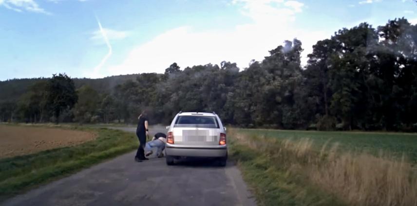 konflikt řidičů, zdroj - youtube