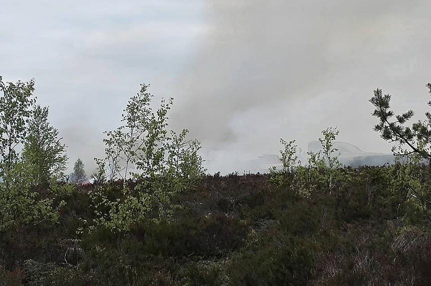 simulovaný požár v lese brdy, josef sykora