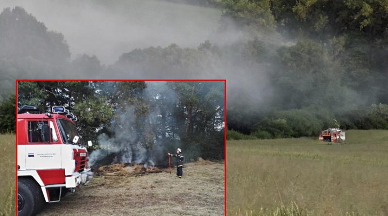 požár u blovic - pálení trávy a sena, Pnd + Josef sýkora