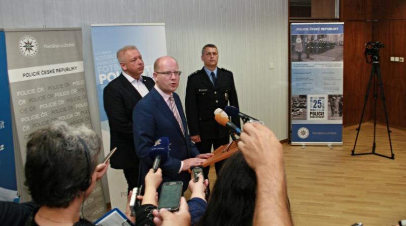 premiér Sobotka na návštěvě u policie v Plzni, zdroj - policie.cz