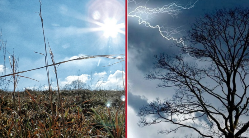 slunečno místy bouřky, zdroj - fotoarchiv PnD