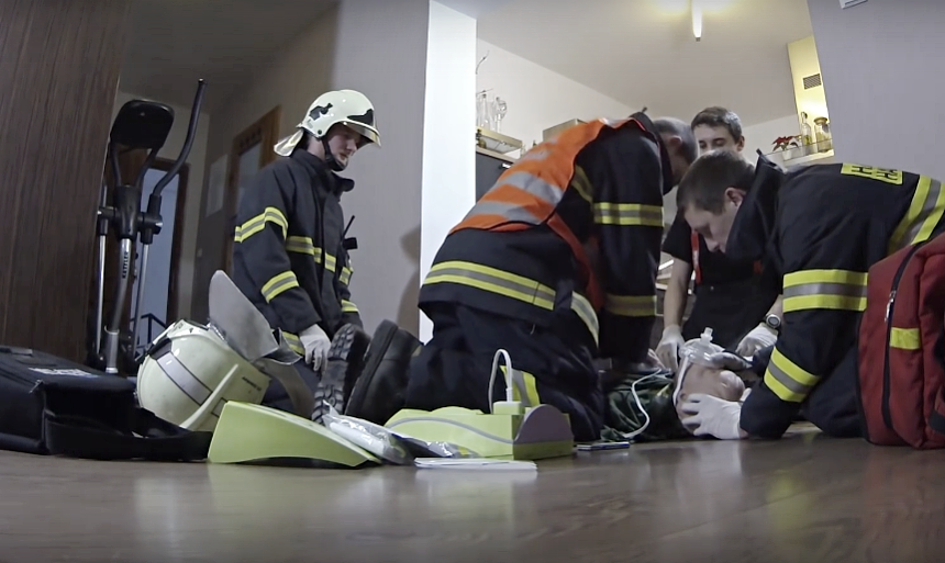 hasiči a KPR, zdroj - youtube