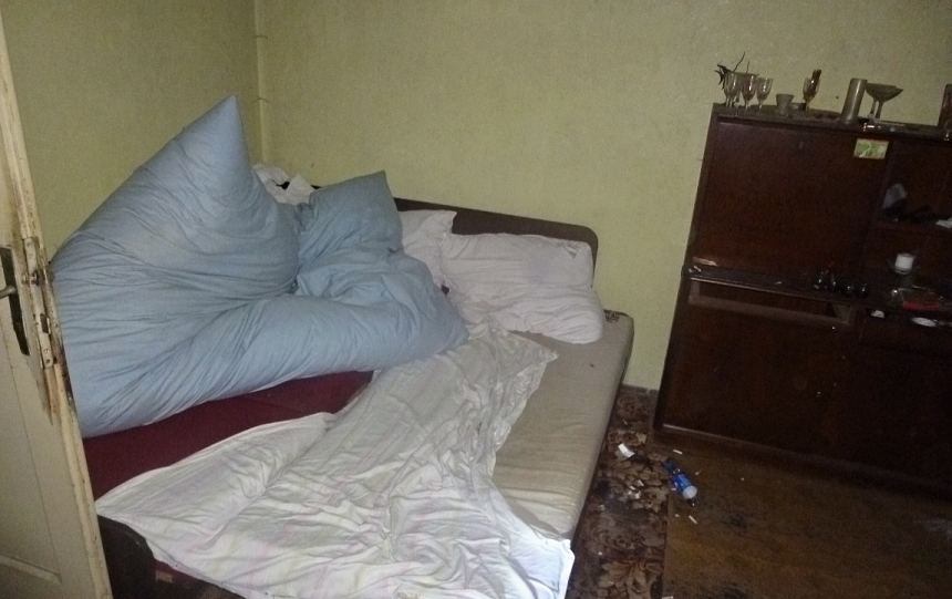 matka s dítětem nocovala v opuštěném domě, zdroj - MP Plzeň