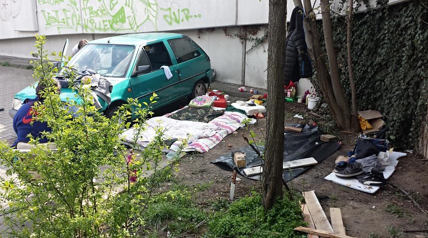 bezdomovci se utábořily v samém centru města Plzně, zdroj - MP Plzeň