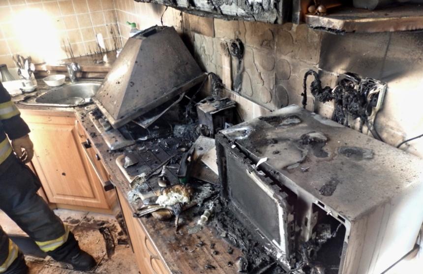 požár kuchyně od varné konvice, zdroj - HZSPk