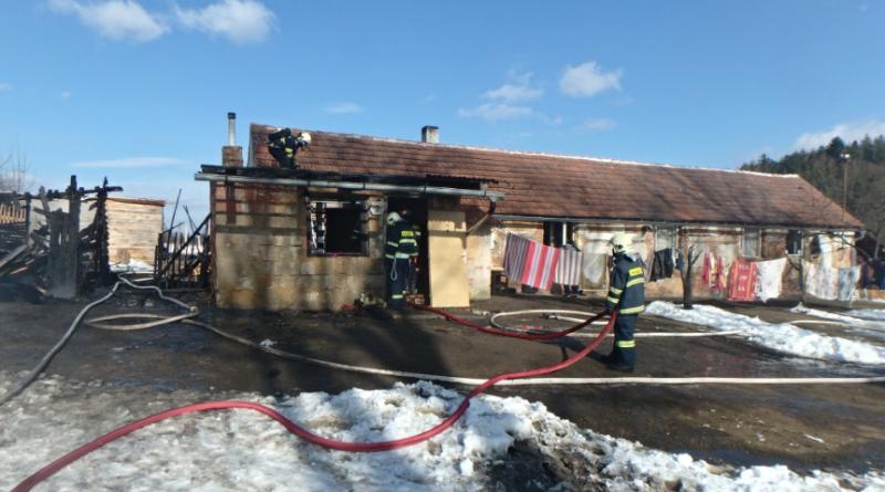 požár bývalého statku v Čepinci, zdroj - HZSPk
