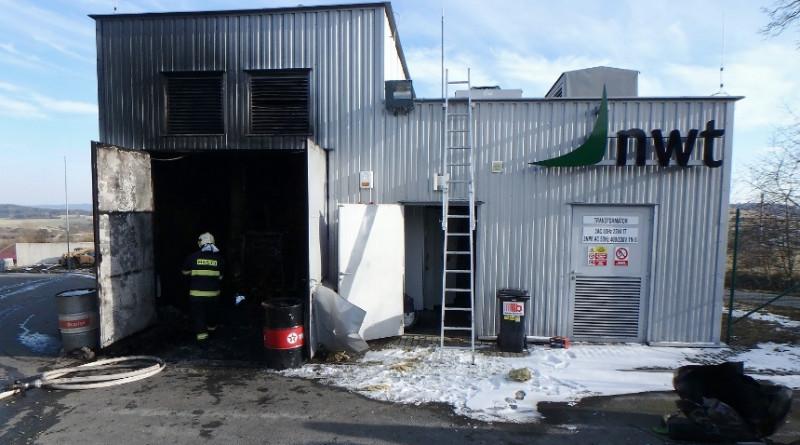 požár bioplynové stanice u kokořova, zdroj - HZSPk